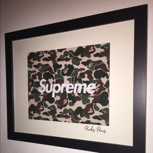 Supreme / Bape Pardis Paris framed art